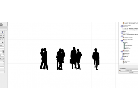 2D ArchiCAD People