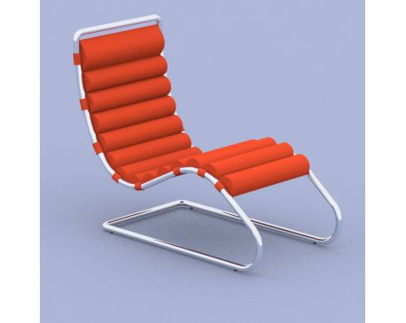 Furnishing knoll mies mr chaise lounge chair for Mr adjustable chaise lounge