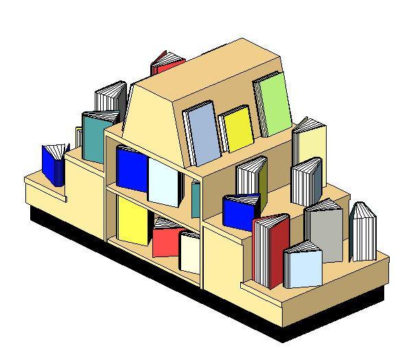Exhibition Stand Revit : Revit book display stand modlar