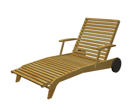 Curved Sun Lounger For ArchiCAD