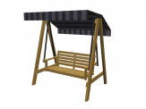 Swing outdoor chair for ArchiCAD