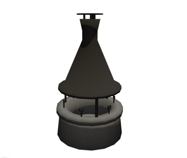 Round Outdoor Fireplace Modlar Com