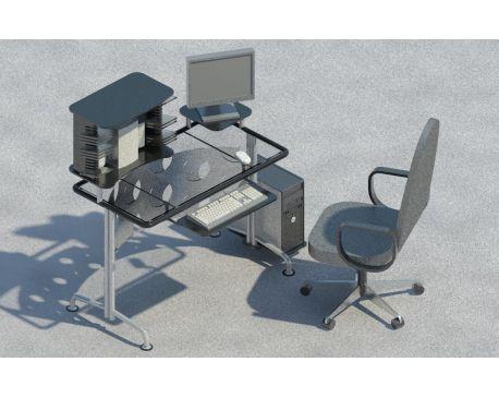 Computer table 02 for Revit Architecture 2011 - modlar com
