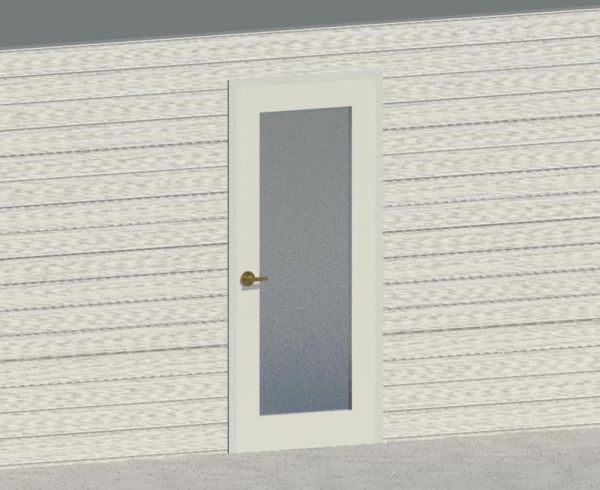 Single door 01 for Revit Architecture 2011 - modlar.com