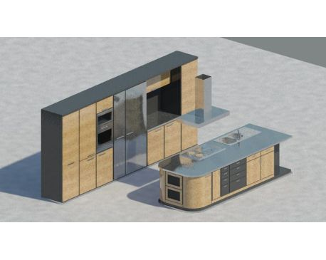 ... Kitchen with Isle for Revit Architecture 2011
