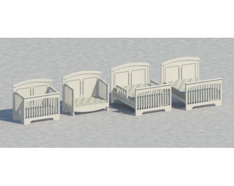 convertible baby cribs for revit