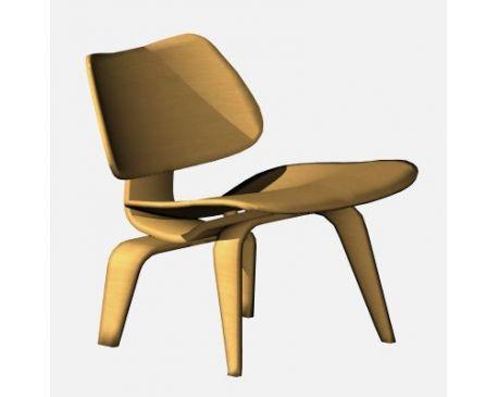 Eames Lounge Chair ArchiCAD   Modlar.com