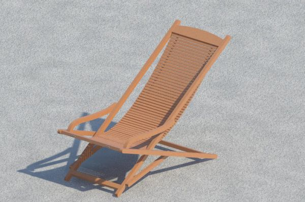 Deck Chair Jutlandia for Revit Architecture 2011 - modlar com