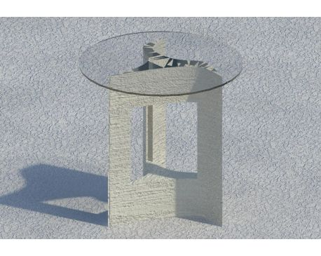 Glass top table for Revit Architecture 2011