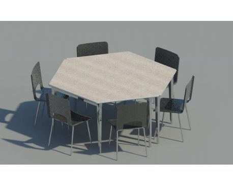 Desk and chairs for Revit Architecture 2012modlarcom