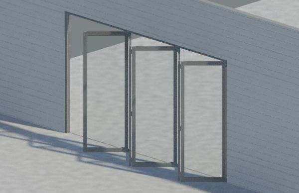 & Bi-fold door for Revit Architecture 2011 - modlar.com