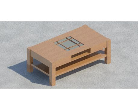Coffee table 03 for Revit Architecture 2011