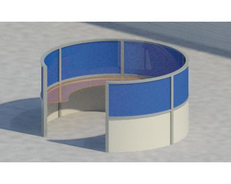 Contemporary round cubicle seat for Revit Architecture 2011