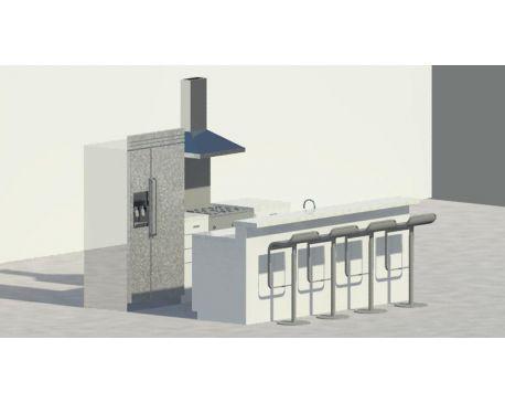 Small Kitchen For Revit Architecture 2011
