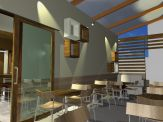 Cafeteria modeled in ArchiCAD