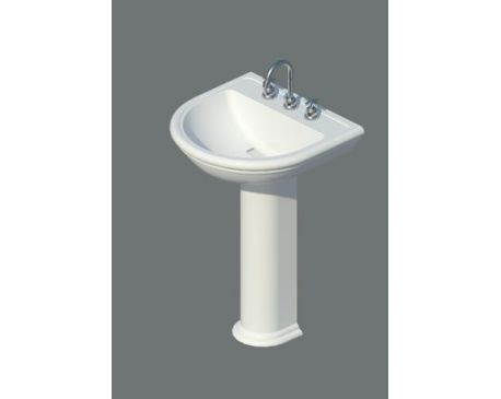 Traditional Bathroom Pedestal Sink/Vanity