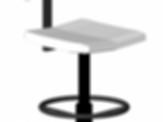 Office armless task chair