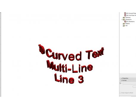 Curved 3D ArchiCAD Text - modlar com