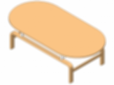 Coffee Table rounded edges