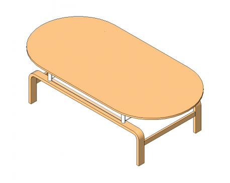 Coffee Table rounded edges modlarcom