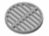 Round grid drain