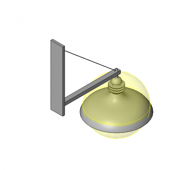 Wall Light Revit Model : Wall light - modlar.com