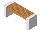 Parametric park flat bench