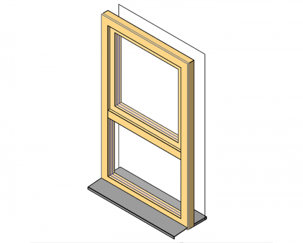 Parametric 2 pane window for revit for Window object