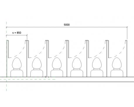 Bathroom Stalls Revit toilet partitions - modlar