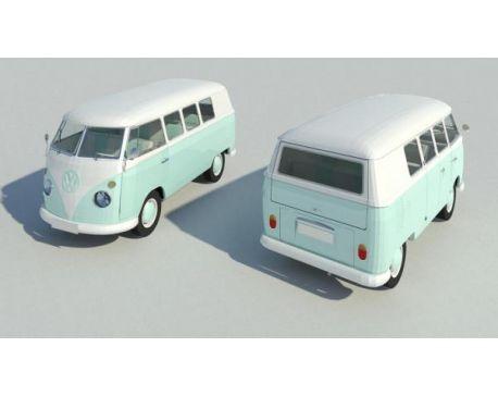 960's Volkswagen Type 2 Van - Car Automobile Vehicle