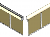 Coupled roller blinds for Revit