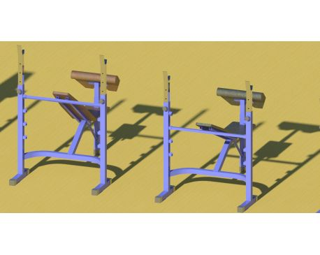 Fitness machine with adjustable parts 2015