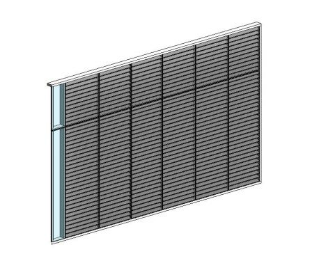 Curtain Wall Louver Panel