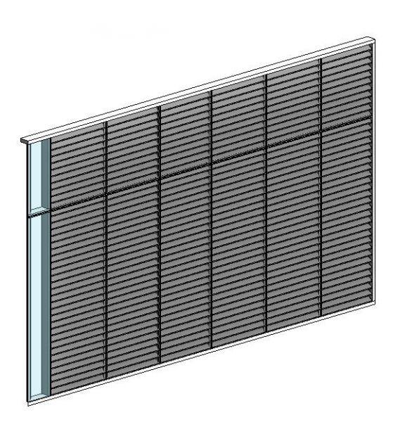 Louver Screen Wall : Curtain wall louver panel modlar