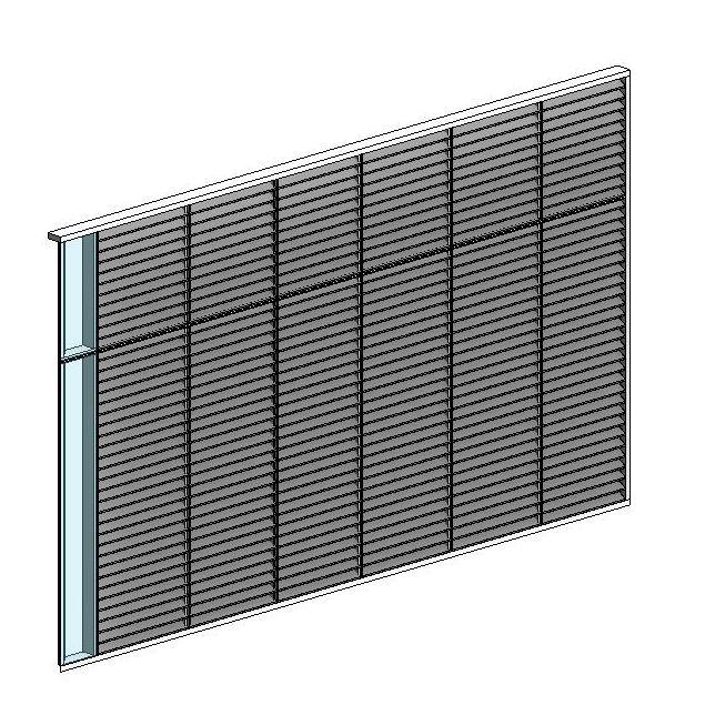 How To Make Corner Curtain Wall With Louver Modlar Com