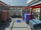 Revit MEP BIM Model for Plant Room of College Campus Building