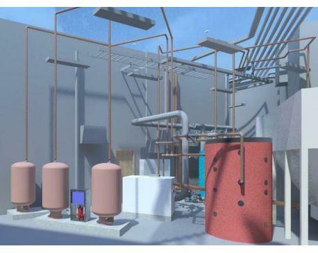 Revit MEP BIM Model for Plant Room of College Campus