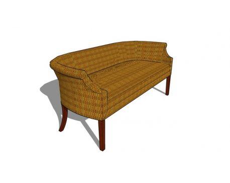 Round Curved Stuffed Lounge Settee Sofa