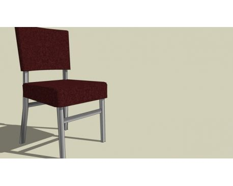 Upholstered steel dining chair