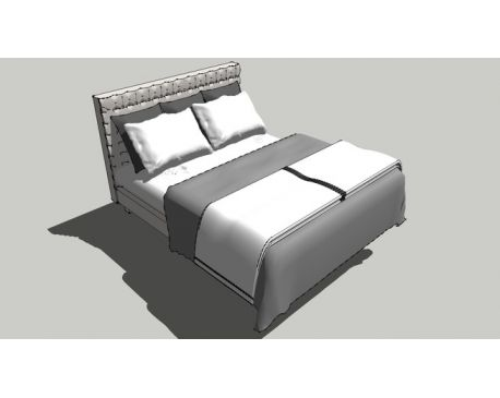 Queen Bed with capitone headboard