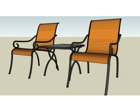 Out door chair and coffee table set