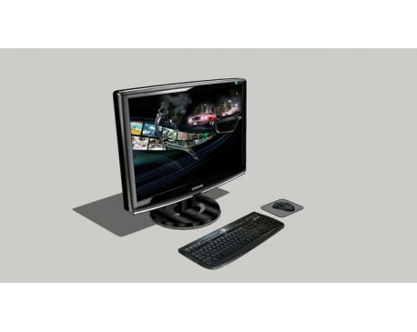 LCD Monitor with Keyboard and Mouse