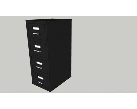 Black Acme File Cabinet