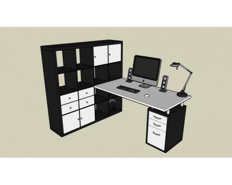 Ikea Hack Workstation Modlarcom