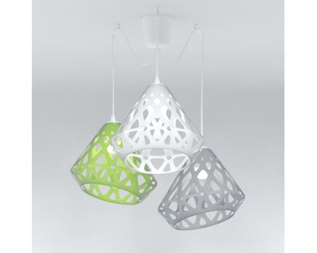 ZAHA LIGHT Three-Colored Chandelier