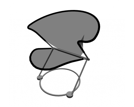 Nuvola Chair For ArchiCAD