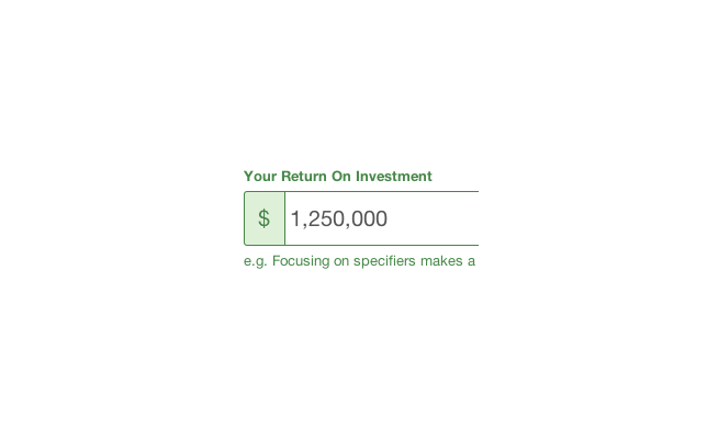 Manufacturer's return on investment calculator