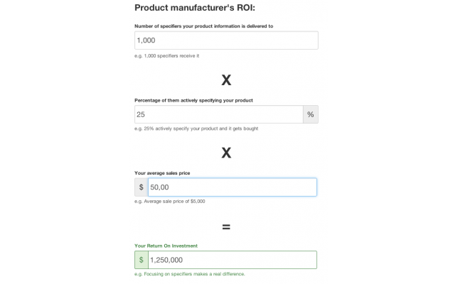 Manufacturer's return on investment calculator - modlar com
