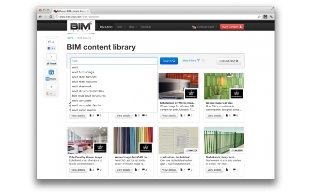 BIMstop new learning search