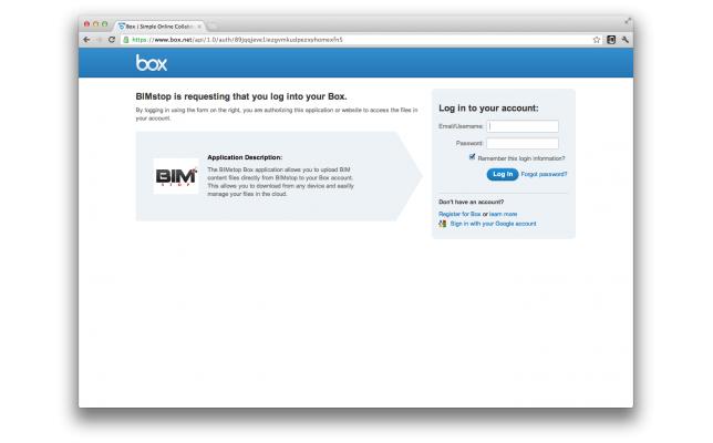 BIMstop and Box integration